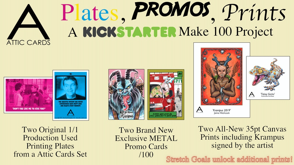Plates, Promos, and Prints:A Make 100 Project by Attic Cards