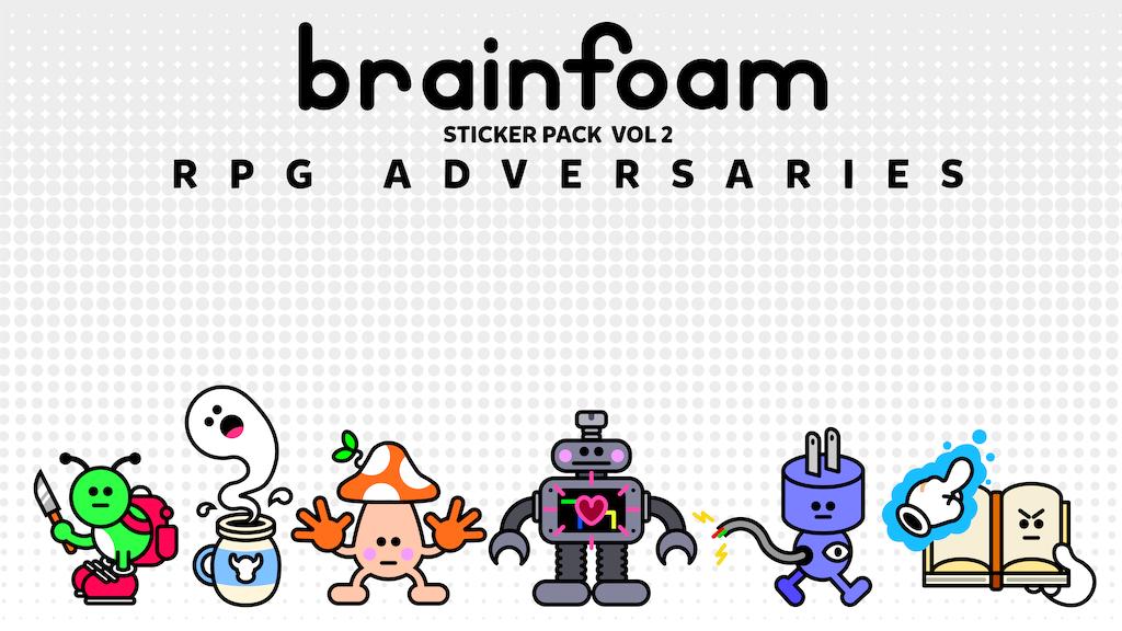 brainfoam sticker pack vol. 2 - RPG ADVERSARIES project video thumbnail