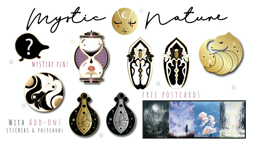 Project image for Mystic Nature - Hard Enamel Pin Collection