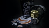 Damascus & Brass Dice( Personalize your dice ) thumbnail