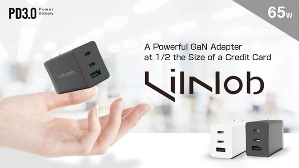 LilNob:A Powerful GaN Adapter at 1/2 Size of a Credit Card project video thumbnail