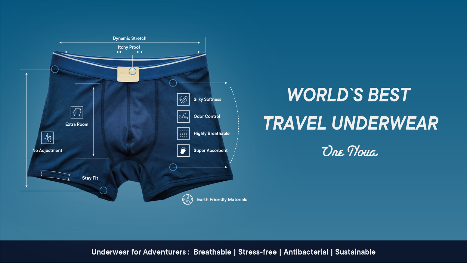 Underwear so comfortable, you'll forget you're wearing one. Breathable | Stress-free | Antibacterial | Sustainable