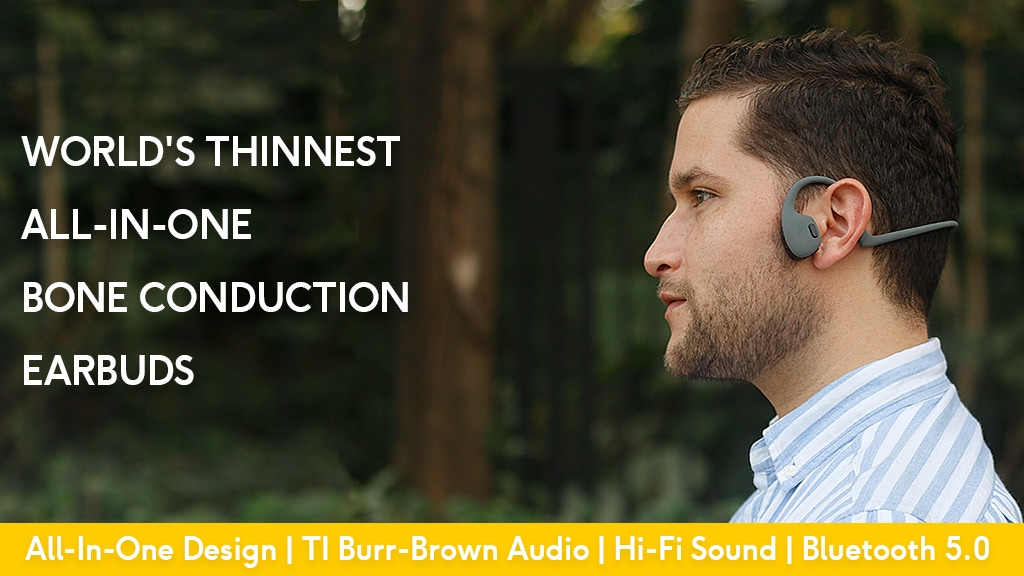 Musiko: World's Thinnest All-In-One Bone Conduction Earbuds project video thumbnail