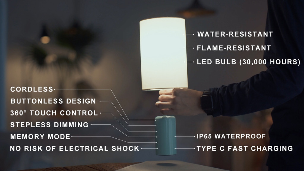 Cuppa: A Cordless LED Touch Lamp with All Features You Need