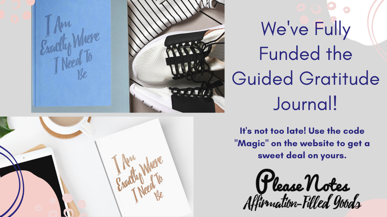Harness the power of Manifestation, Dreams, and Gratitude with the new PleaseNotes Guided Journals.