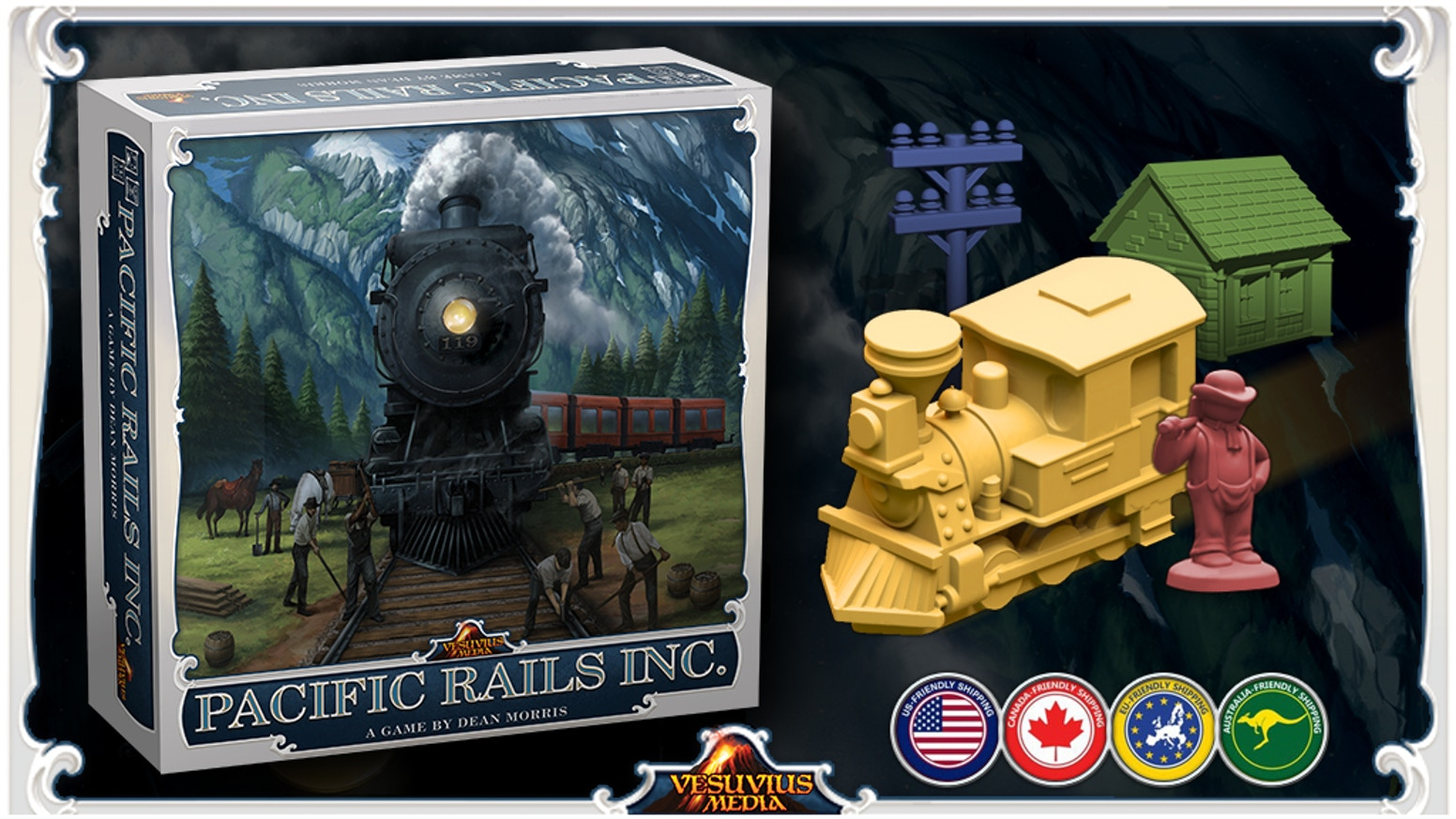 Pacific Rails Inc is an engine building, resource management, worker placement, network/route building game for 2 to 4 players.