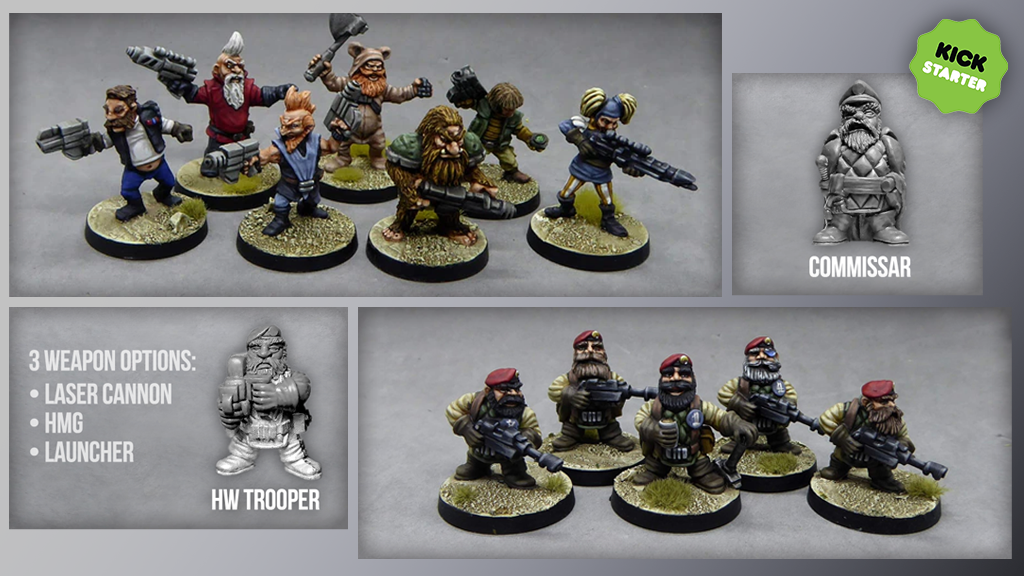 Project image for The 7 Dwarves. 28mm Sci-Fi Miniatures.