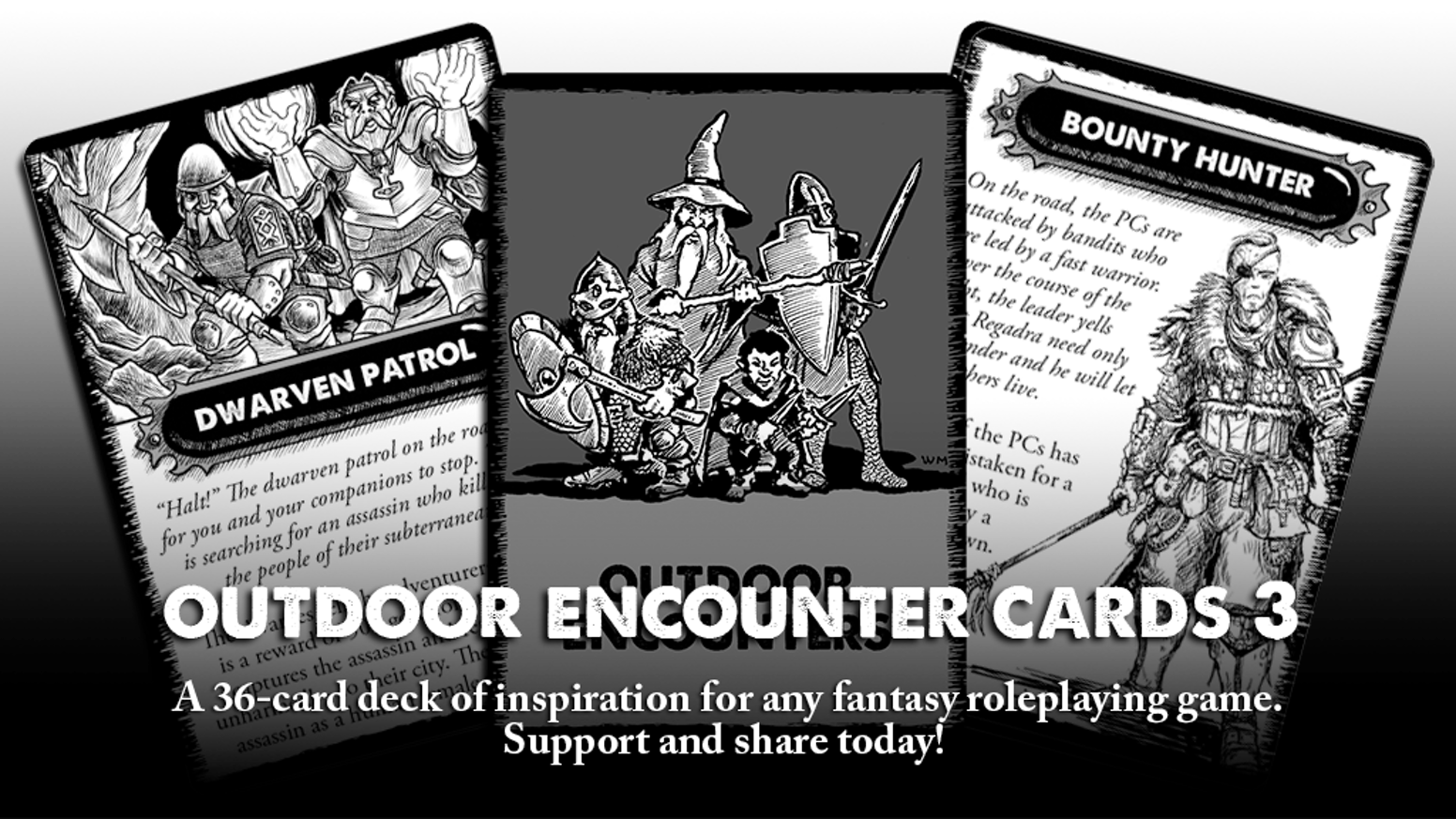 A new deck of cards used to randomly generate outdoor encounters. More inspiration than mechanics.