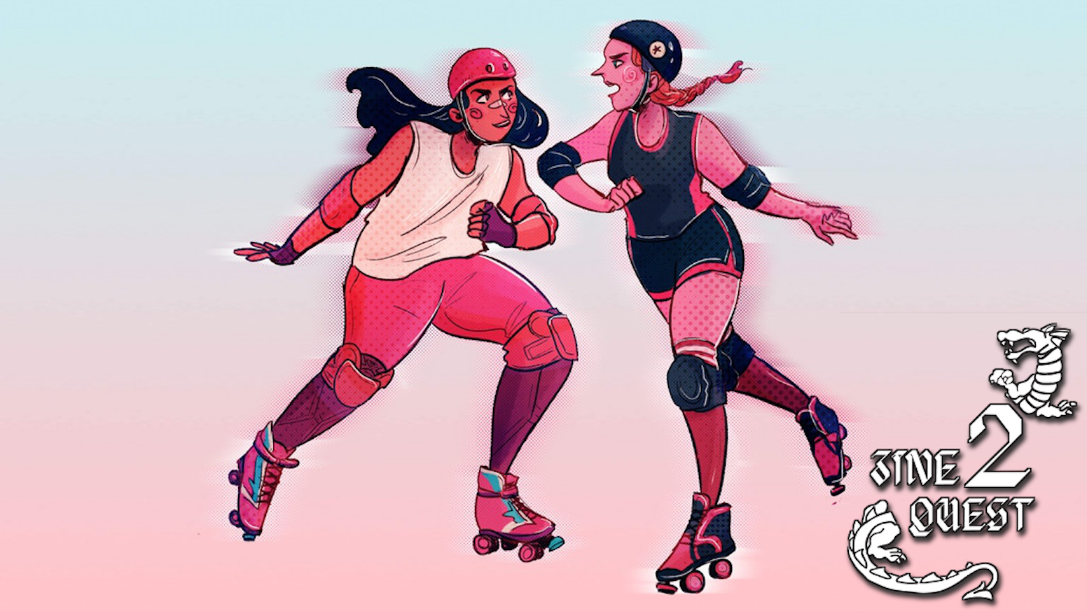 A tabletop role-playing game about the drama and excitement of skating in a roller derby bout.