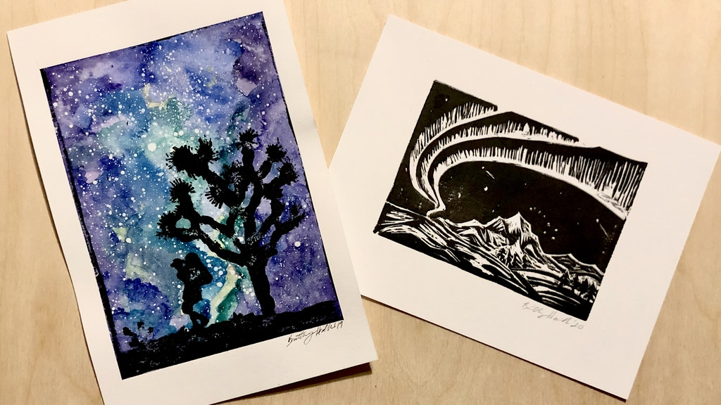 Project image for Make 100: Hand Made Wilderness Linoleum Block Prints