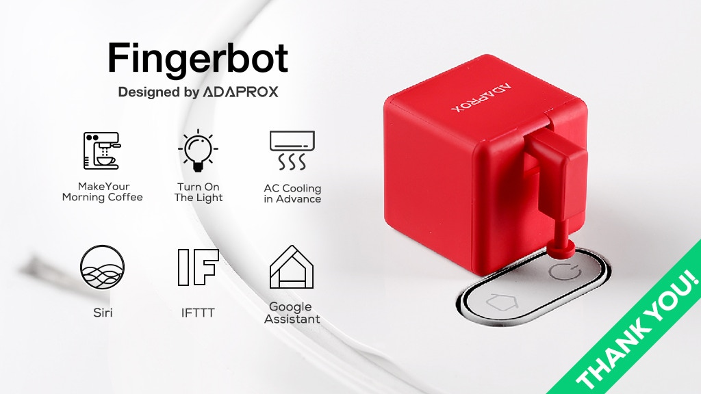 Fingerbot, Control All Devices Remotely Through Voice or App project video thumbnail