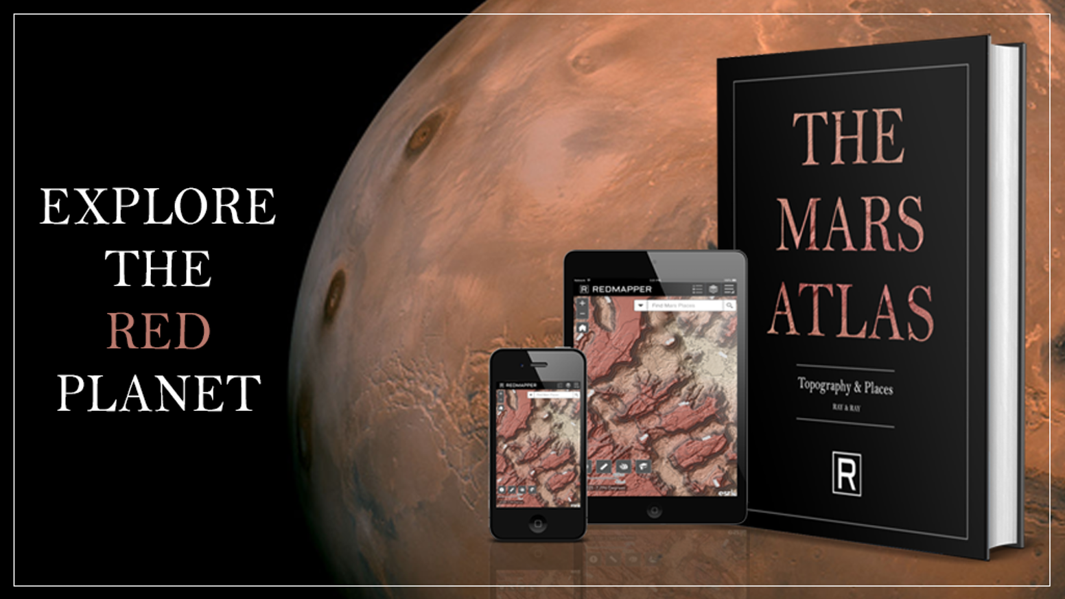 Explore the Red Planet with maps crafted by professional cartographers and visit our neighbor through The Mars Atlas & Mars Portal.