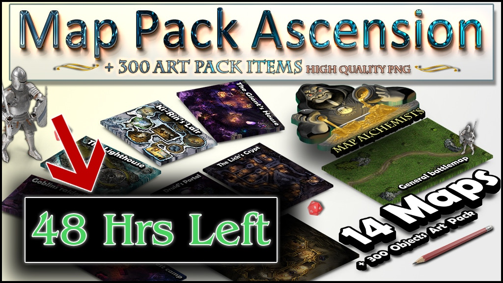 Project image for RPG Map Pack and Art Pack 14 Maps + 300+ arts :The Ascension