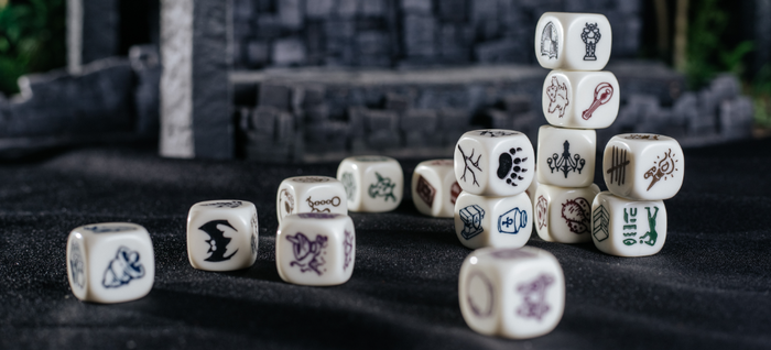 GM's DRESSING DICE is a perfect tool for Game Masters to use during their tabletop role-playing games!