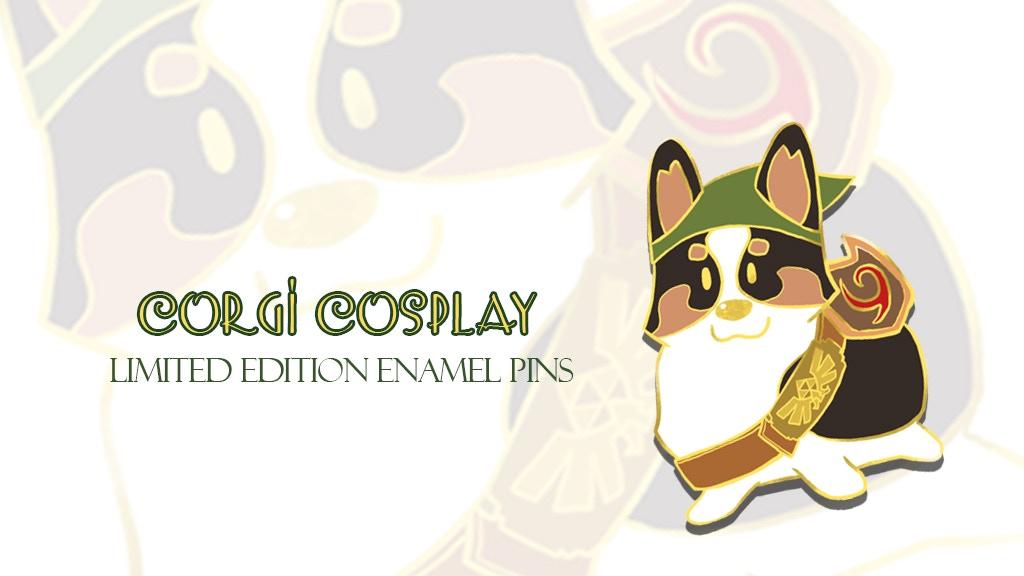 Corgi Cosplay Enamel Pins