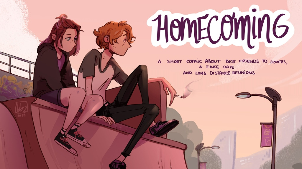 A short one shot comic about long distance best friends to lovers, fake dating and reunions.