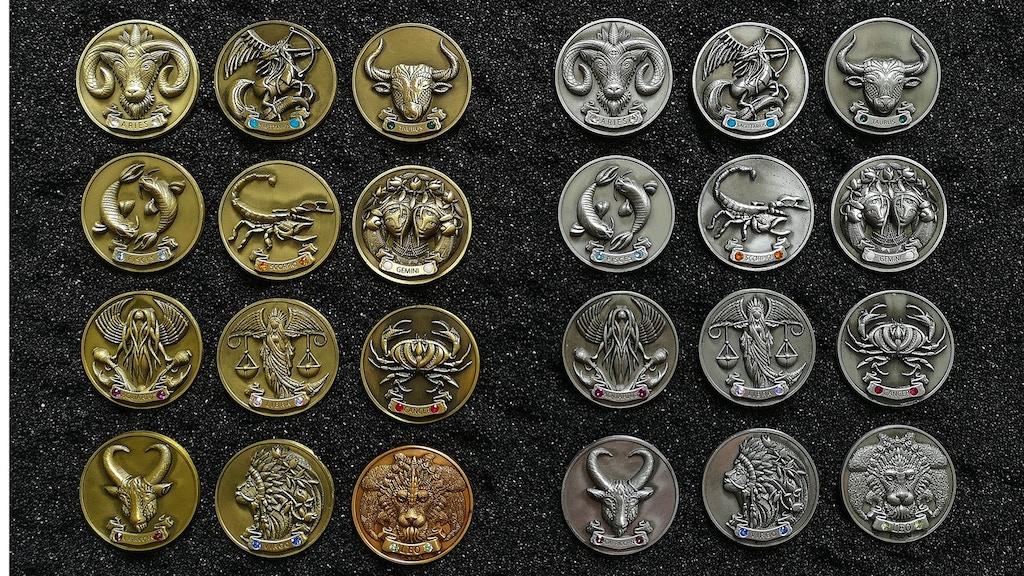 My Zodiac Coin - Swarovski® Crystals, 3D, Glow-In-Dark project video thumbnail