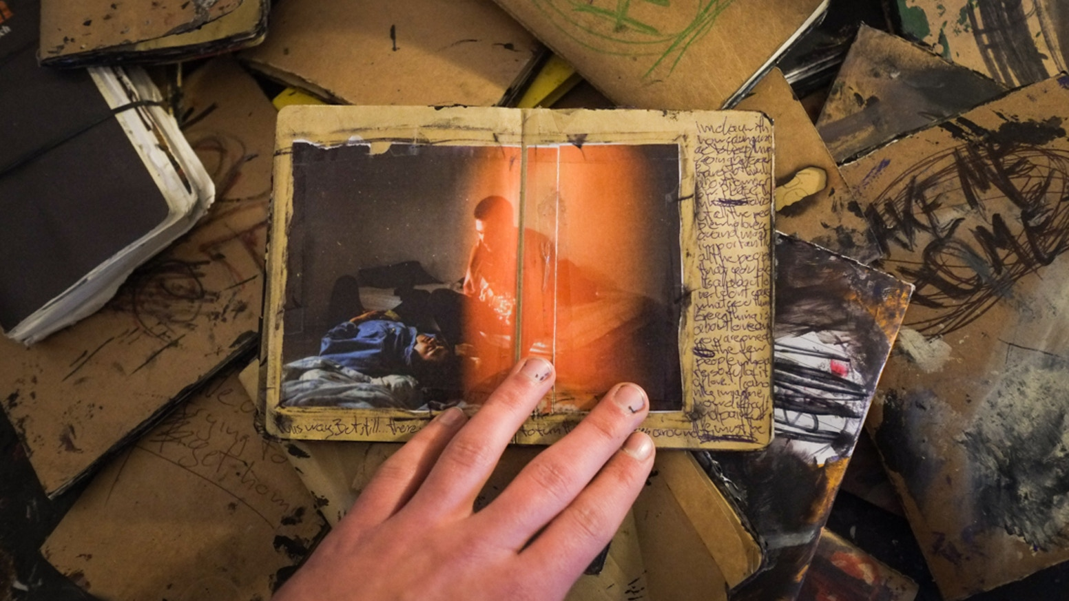 A photobook made from scrapbook pages