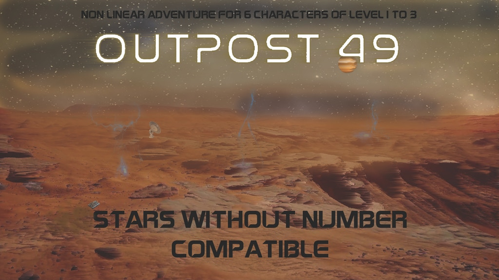 Project image for OUTPOST 49 SciFi RPG Stars Without Number Adventure Module