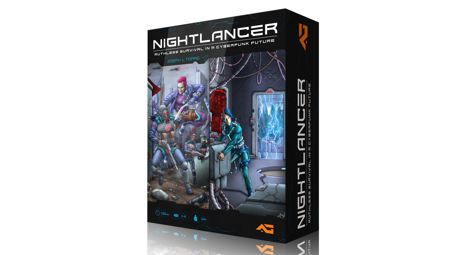 Fight to survive as society tears itself apart in this cyberpunk dystopian board game.