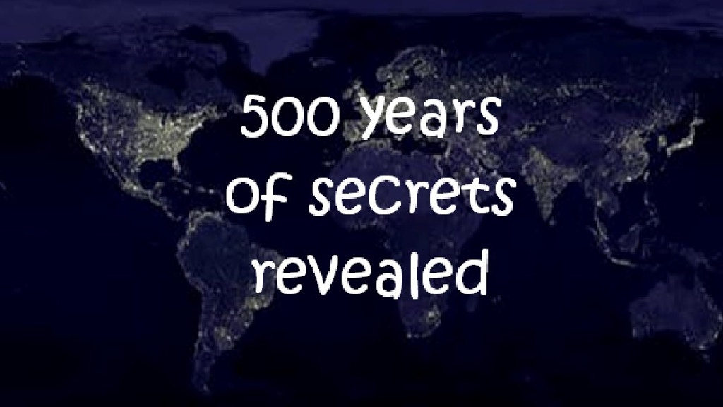 Project image for 500 Years of Secrets revealed... (Canceled)