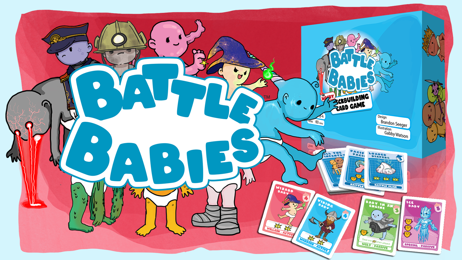 The wacky card game about recruiting an army, battling  your friends, and looking at cute babies.