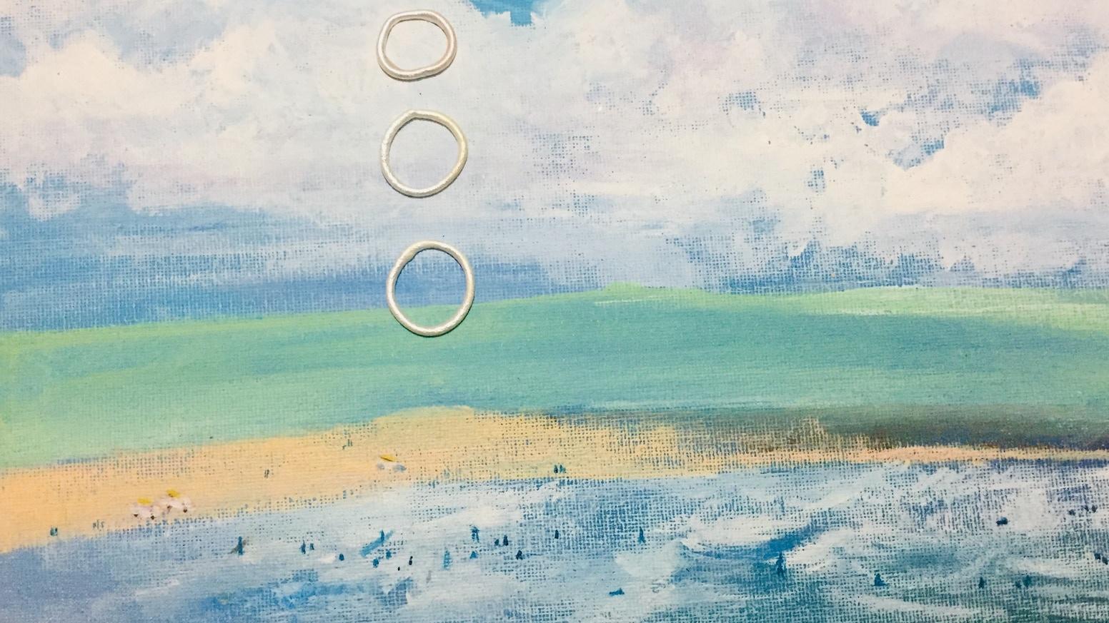110 mini Cornish Paintings to mend my studio.