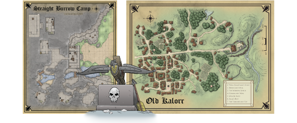 Una mappa di Knights of the Shadow Realm
