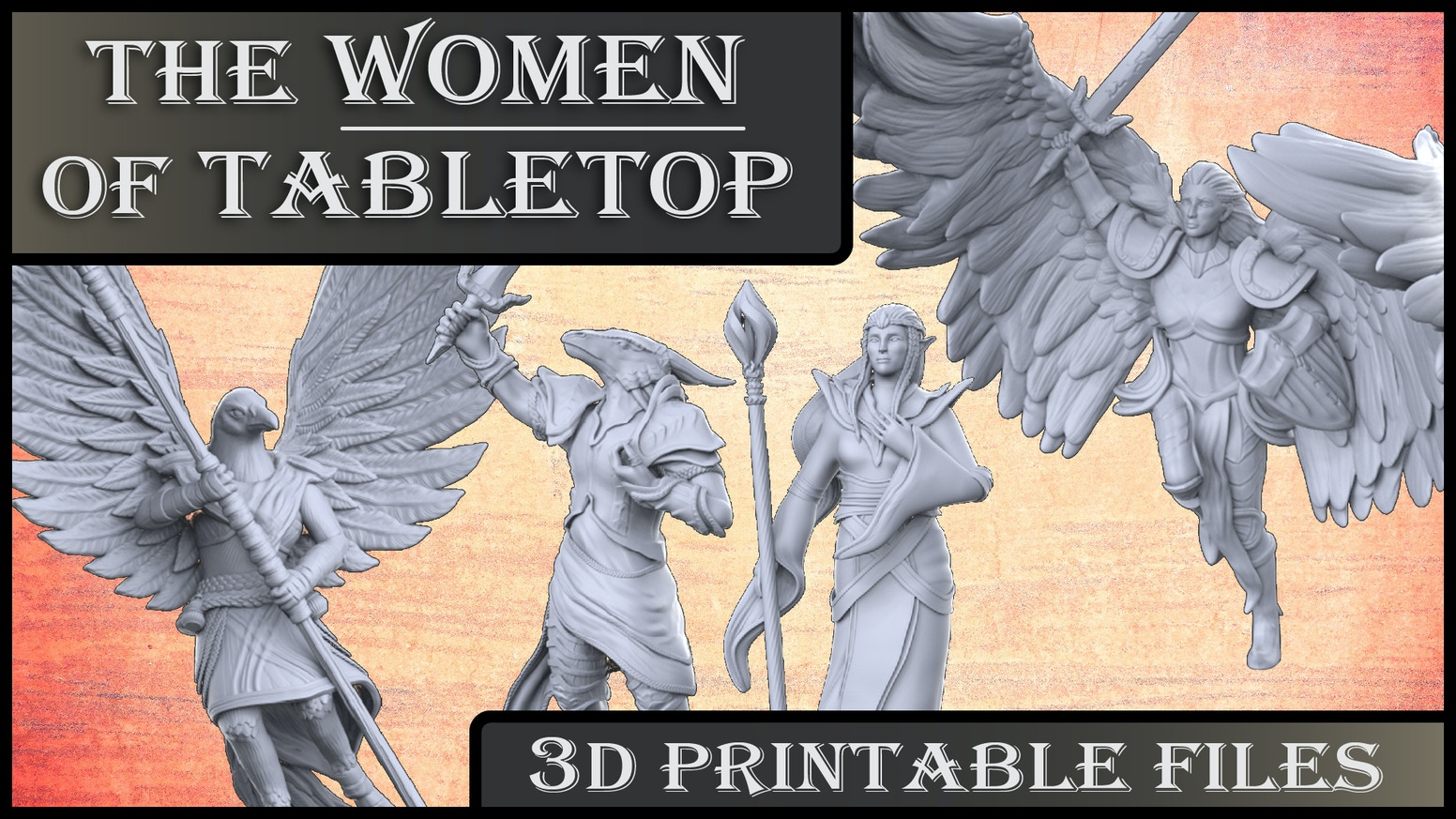 beautiful and strong women 3D printable files for the tabletop community