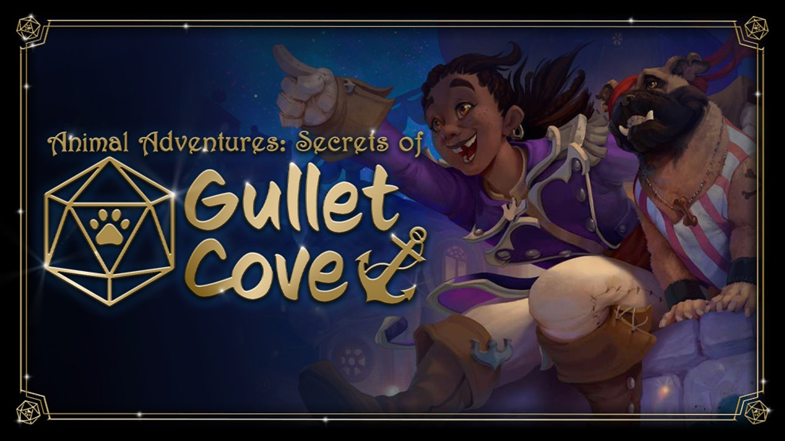 Introducing Gullet Cove, a magical campaign setting for 5e DnD that brings new cat, dog & monster minis to life for your tabletop RPG!
