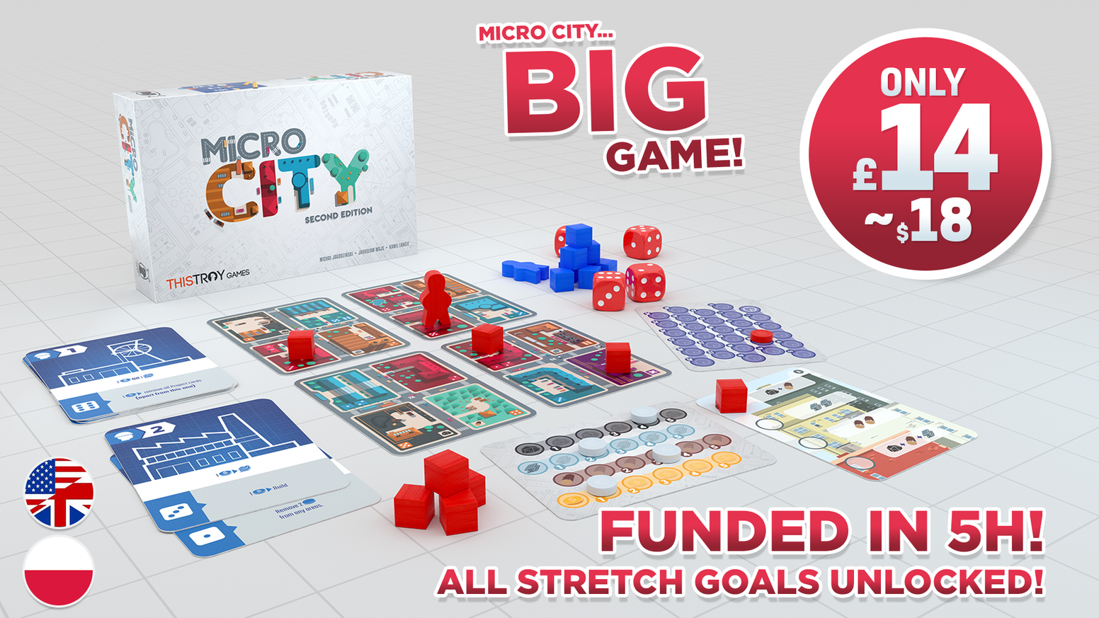 Build your city wherever you want with this pocket-sized game!