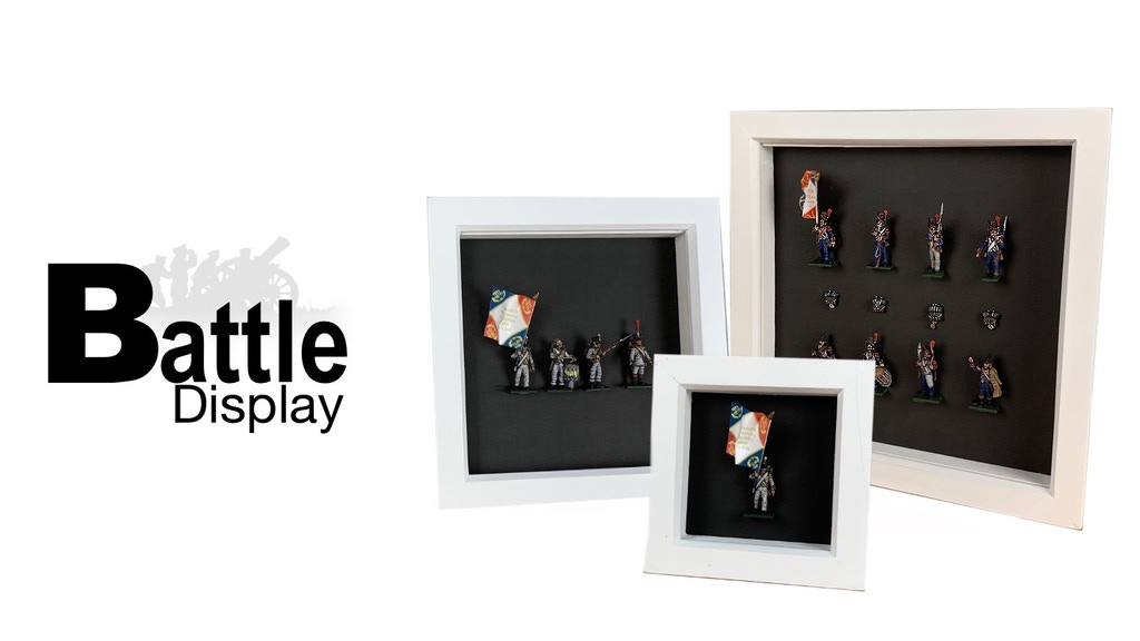 Project image for Painted Napoleonic Miniature Wall Displays (limited run)