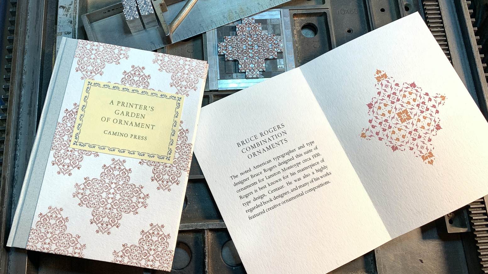 Typographic flowers, flourishes and fleurons: 100 books printed by letterpress from handset metal type ornaments
