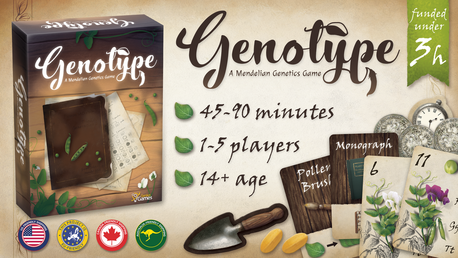 A worker placement and dice drafting game built upon Gregor Mendel's work with genetics and pea plants.