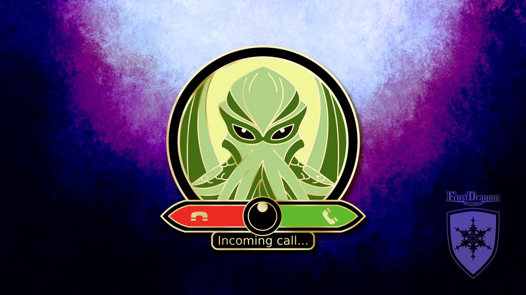 Incoming Call - A Lovecraft Horror Hard Enamel Pin