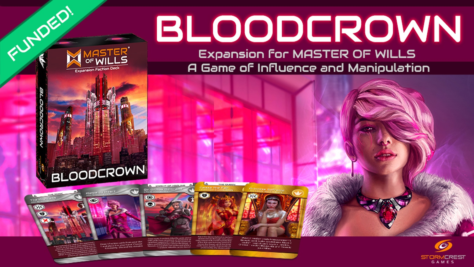 A new cyberpunk, medieval expansion from Master of Wills, a game of influence and manipulation.