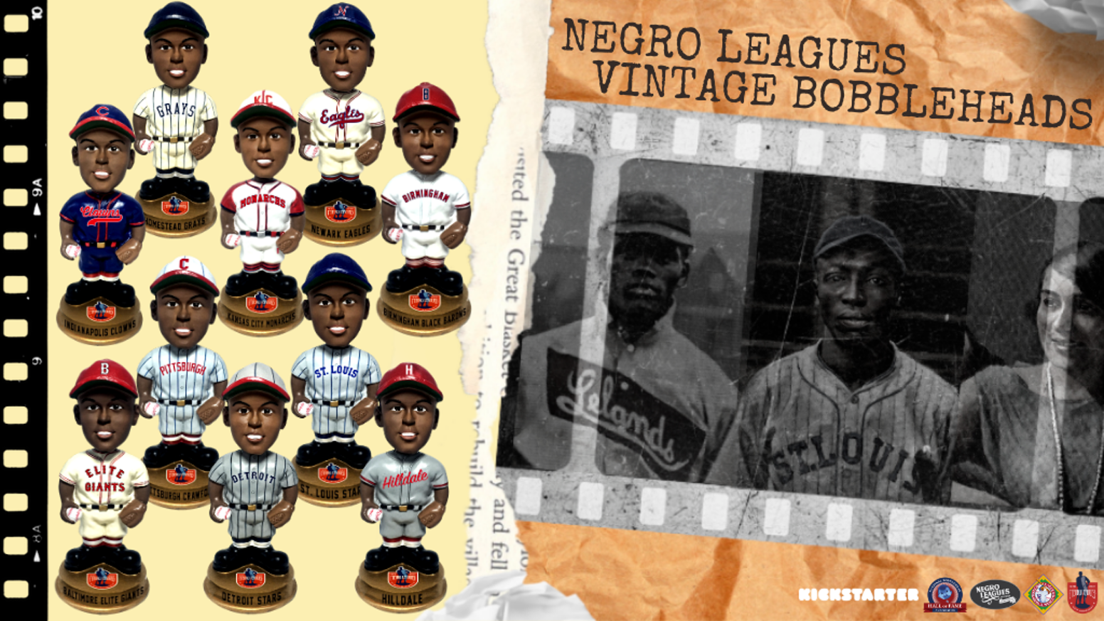 Celebrating the Negro Leagues through bobbleheads that will educate and inspire generations to come.