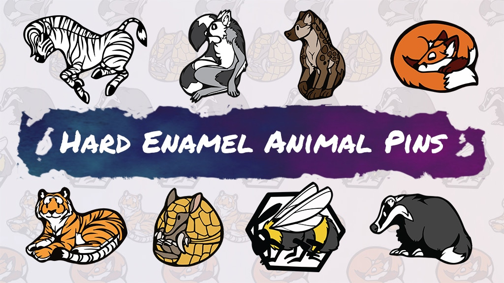 Project image for Cartoon Animal Hard Enamel Pins