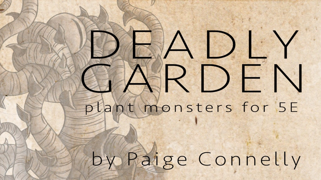 Deadly Garden: Plant Monsters for 5E Zine project video thumbnail
