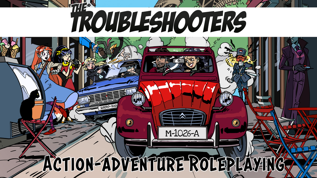 Miniature de la vidéo du projet The Troubleshooters: action adventure tabletop RPG