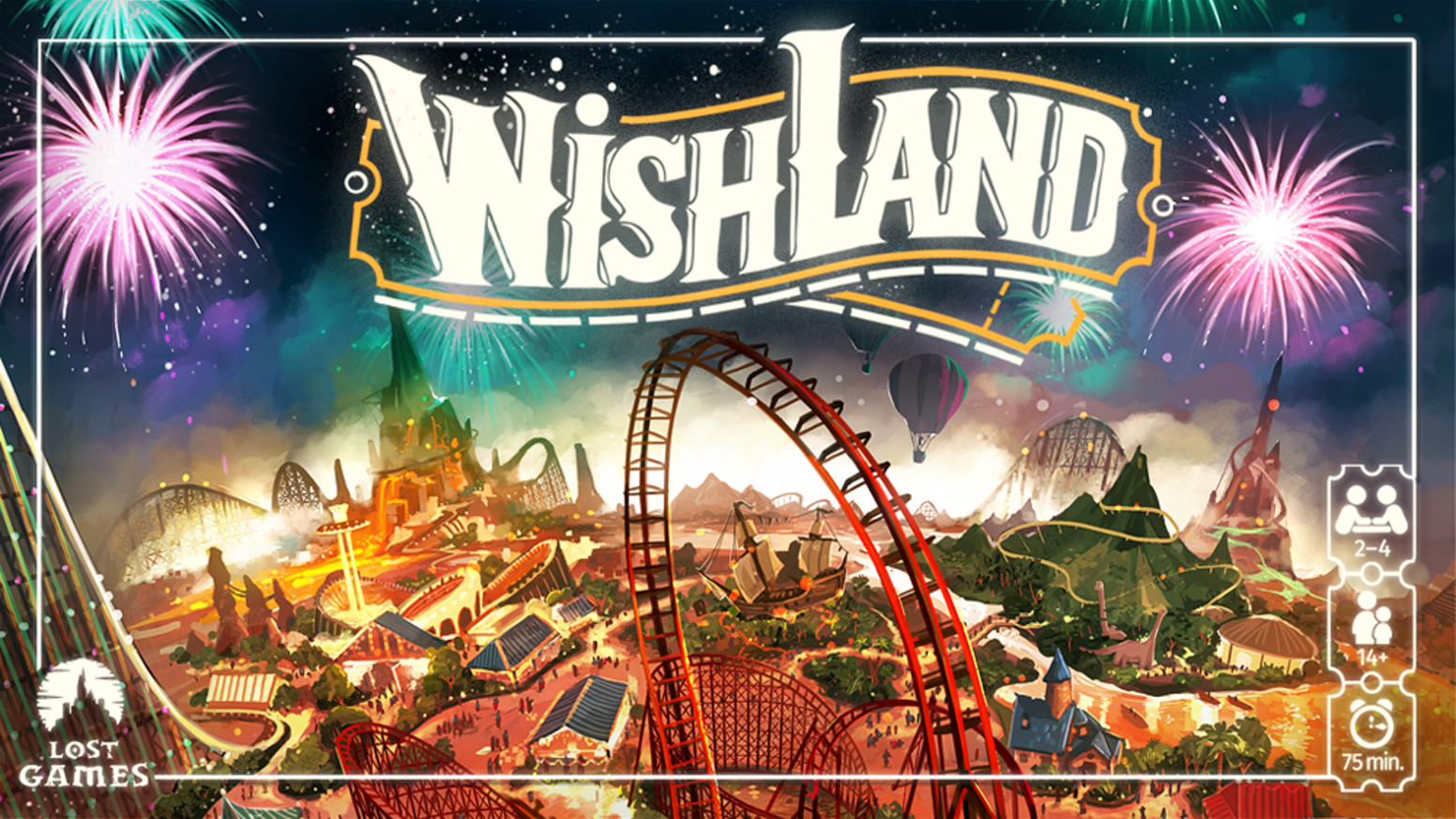Wishland is a worker placement eurogame for 1-4 players and 75 minutes of duration.