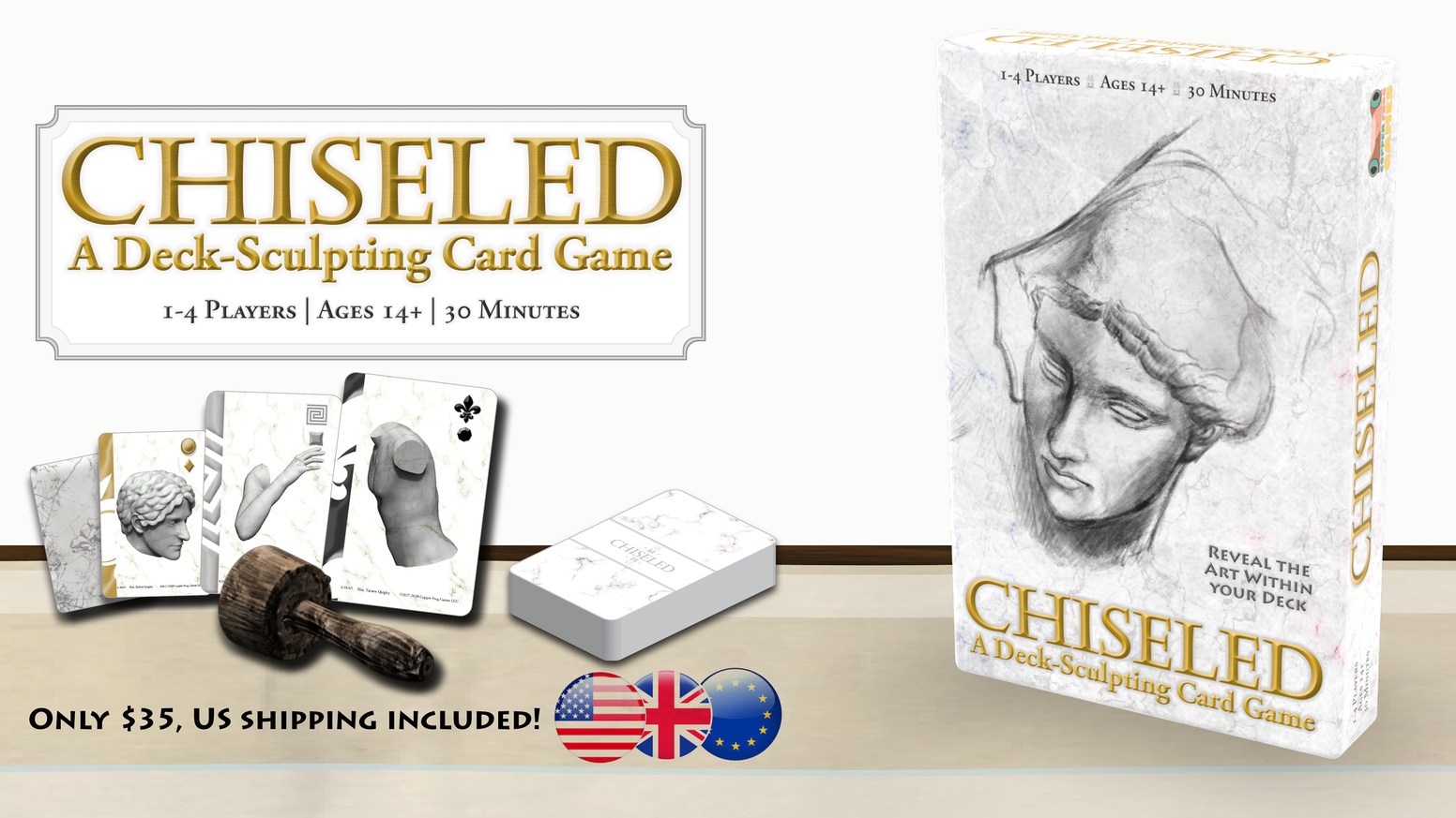 A competitive action drafting, deck-deconstruction game of sculpting marble for 1-4 players.