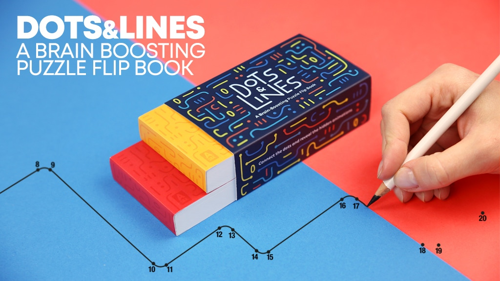 Dots & Lines - a Brain Boosting Puzzle Flip Book project video thumbnail