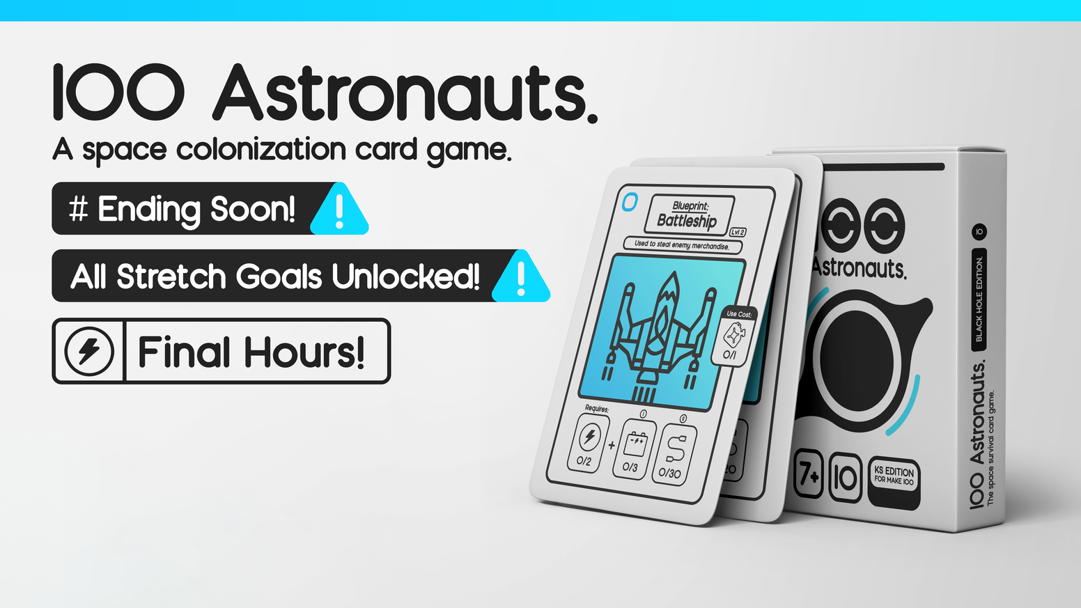 A beautifully designed space colonization card game.