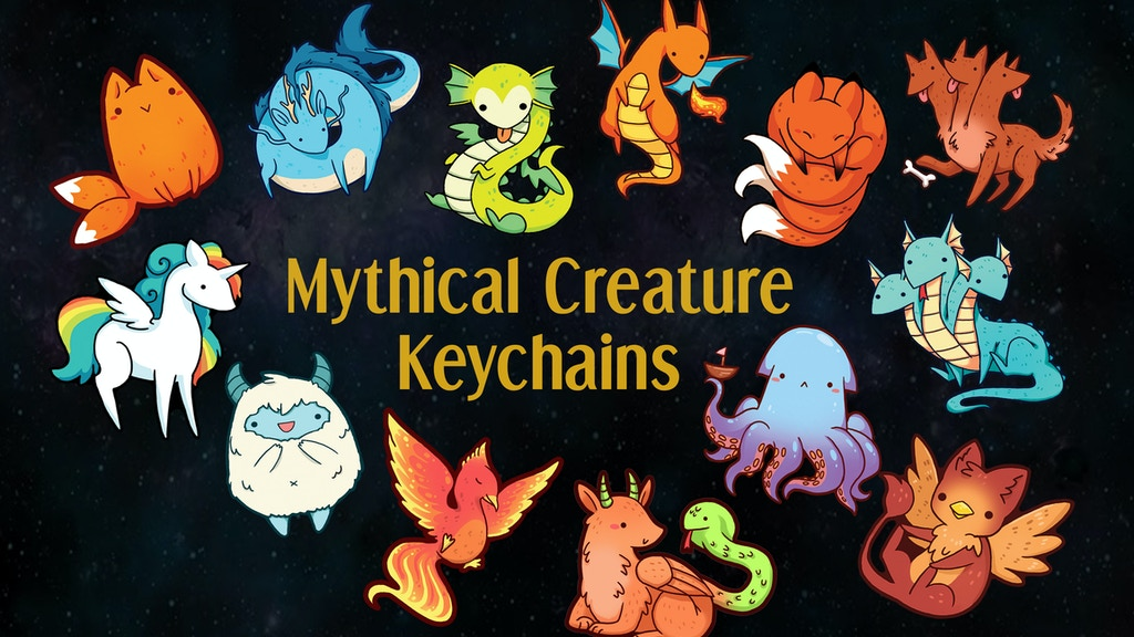 Project image for Mythical Creature Keychain Charms