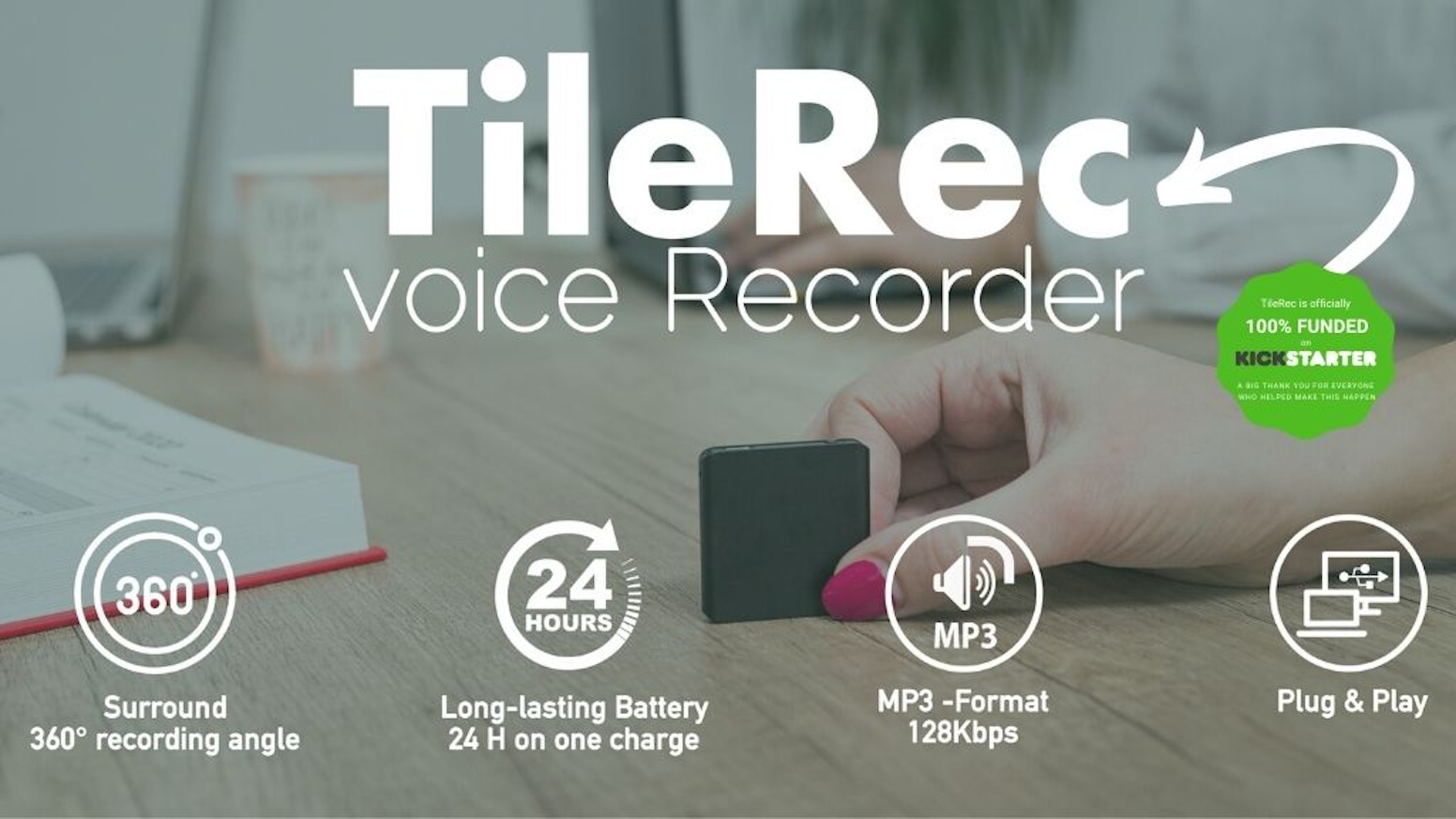 Practical, Tiny & Subtle. TileRec is much more than just the slimmest mini MP3 voice recorder.In case you miss it, you can find TileRec on InDemand
