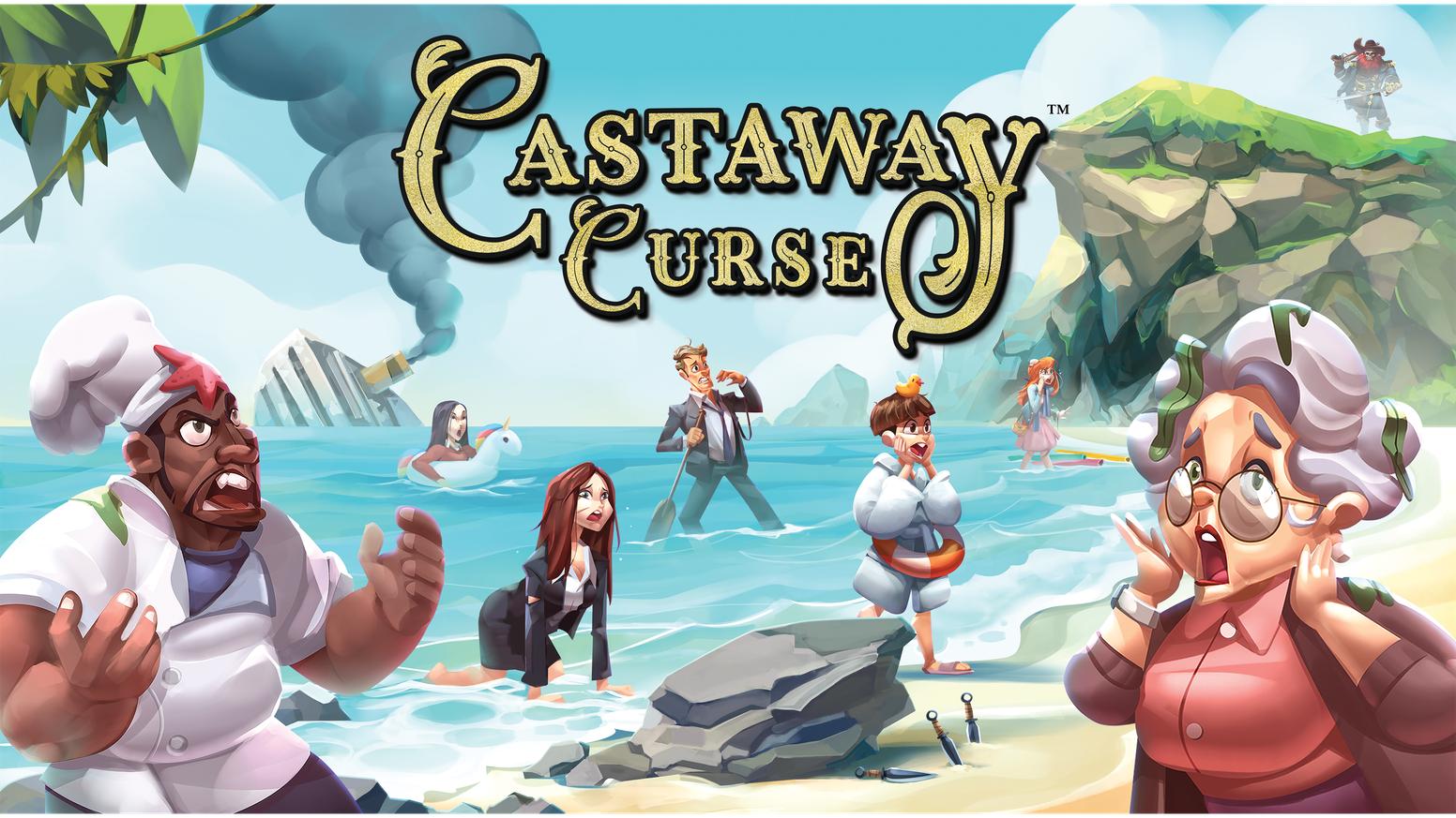 A shipwreck adventure game. Castaways battle for wealth and power to gain freedom from Prospero Island.