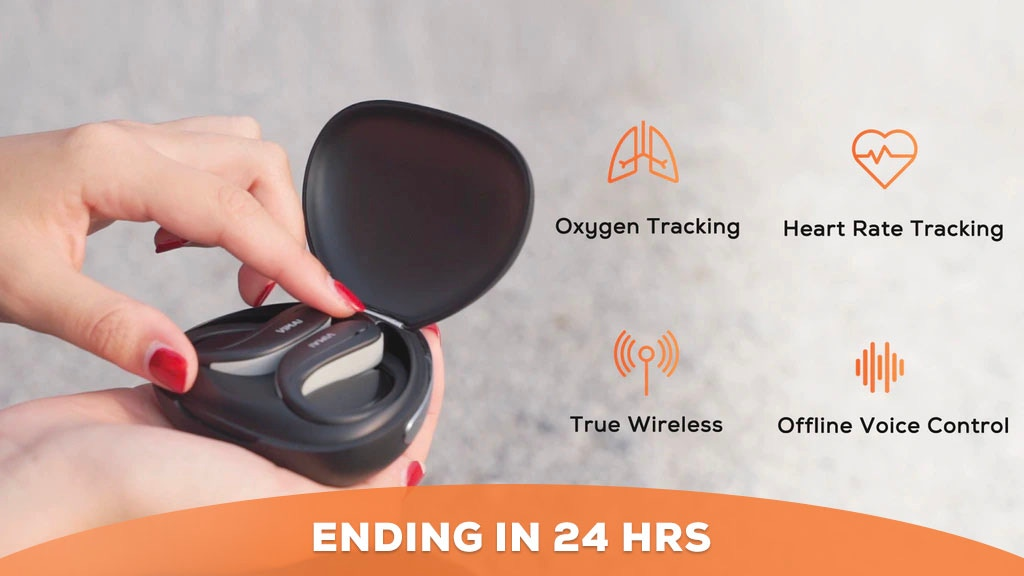 V-Powerbuds Pro: TWS Earbuds That Tracks Heart Rate & Oxygen project video thumbnail
