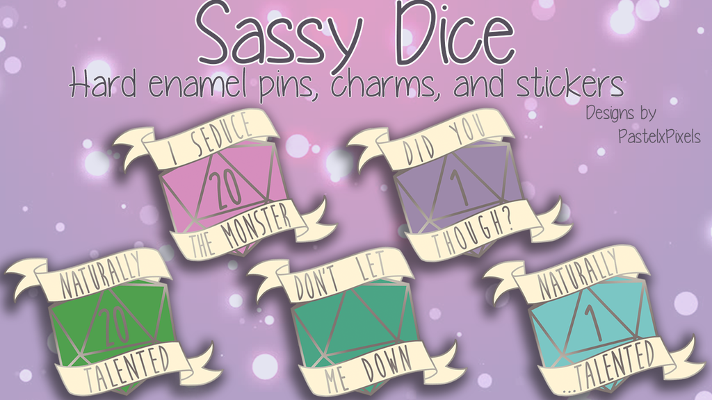 Project image for Sassy Dice Hard Enamel Pins