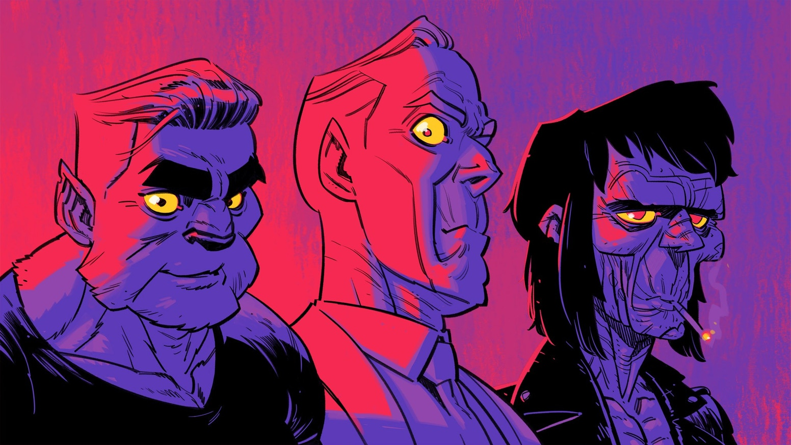 X-Files meets the Monster Squad when a werewolf, a vampire, and a zombie open a detective agency. A 36-page comic book epic!